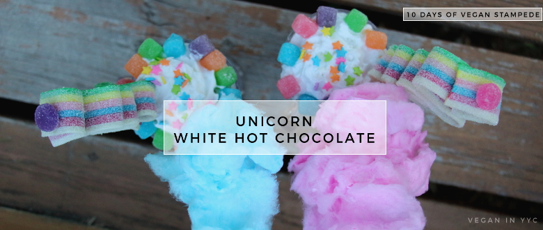 Unicorn White Hot Chocolate (10 Days of Vegan Stampede)